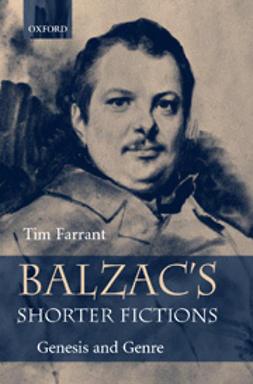 Balzac's Shorter Fictions: Genesis and Genre
