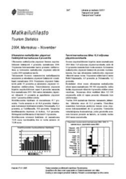 Suomen virallinen tilasto, Tilastokeskus - Matkailutilasto 2004, marraskuu, e-kirja