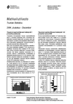 Suomen virallinen tilasto, Tilastokeskus - Matkailutilasto 2004, joulukuu, e-kirja
