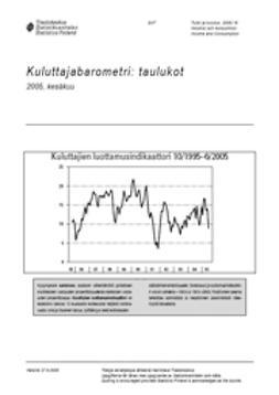 Suomen virallinen tilasto, Tilastokeskus - Kuluttajabarometri: taulukot 2005, kesäkuu, ebook
