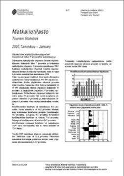 Suomen virallinen tilasto, Tilastokeskus - Matkailutilasto 2005, tammikuu, e-kirja