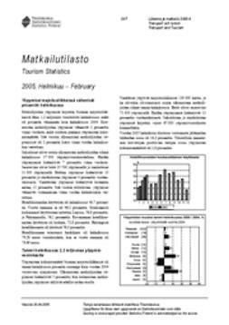 Suomen virallinen tilasto, Tilastokeskus - Matkailutilasto 2005, helmikuu, e-kirja
