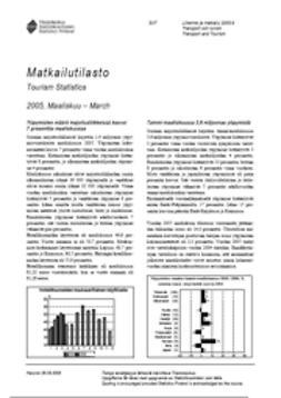 Suomen virallinen tilasto, Tilastokeskus - Matkailutilasto 2005, maaliskuu, e-kirja