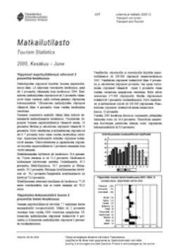 Suomen virallinen tilasto, Tilastokeskus - Matkailutilasto 2005, kesäkuu, e-kirja