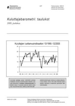 Tilastokeskus, Taloudelliset olot - Kuluttajabarometri: taulukot 2005, joulukuu, ebook
