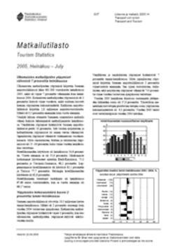 Suomen virallinen tilasto, Tilastokeskus - Matkailutilasto 2005, heinäkuu, e-kirja