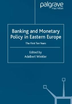 Winkler, Adalbert  - Banking and monetary policy in Eastern Europe, ebook