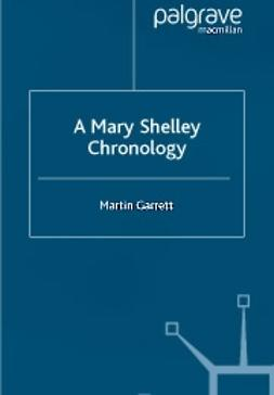 Garrett, Martin - A Mary Shelley Chronology, ebook