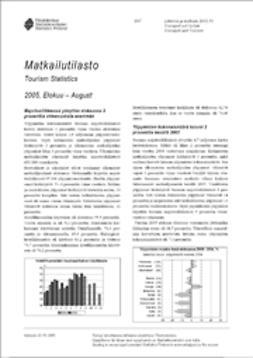 Suomen virallinen tilasto, Tilastokeskus - Matkailutilasto 2005, elokuu, ebook