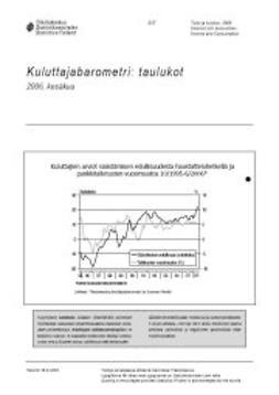 Tilastokeskus Liikenne- ja matkailu - Kuluttajabarometri: taulukot 2006, kesäkuu, e-kirja