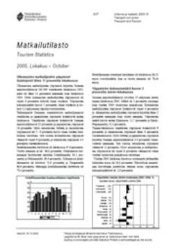 Tilastokeskus Liikenne- ja matkailu - Matkailutilasto 2005, lokakuu, ebook