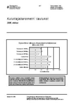 Tilastokeskus, Taloudelliset olot - Kuluttajabarometri: taulukot 2006, elokuu, e-kirja
