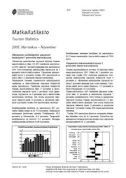 Tilastokeskus Liikenne- ja matkailu - Matkailutilasto 2005, marraskuu, ebook