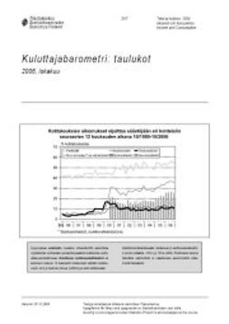 Tilastokeskus, Taloudelliset olot - Kuluttajabarometri: taulukot 2006, lokakuu, ebook