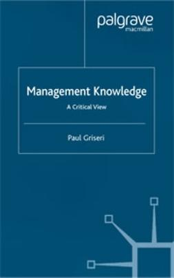 Griseri, Paul - Management Knowledge, ebook