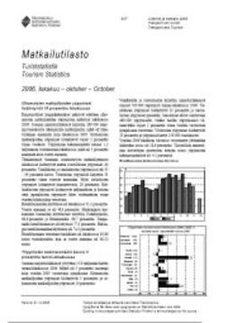 Tilastokeskus Liikenne- ja matkailu - Matkailutilasto 2006, lokakuu, ebook