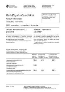 Tilastokeskus, Kulutus ja asuminen - Kuluttajahintaindeksi 2006, marraskuu, e-kirja