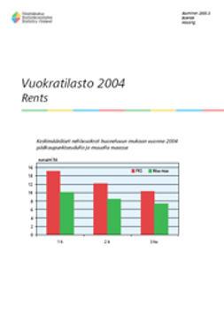 Suomen virallinen tilasto, Tilastokeskus - Vuokratilasto 2004, e-kirja