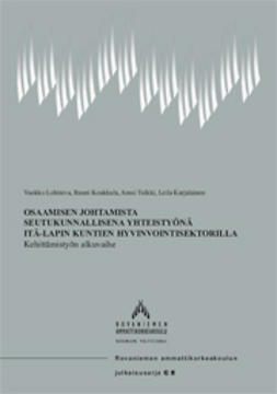 Osaamisen johtamista seutukunnallisena yhteistyönä Itä-Lapin kuntien hyvinvointisektorilla – Kehittämistyön alkuvaihe