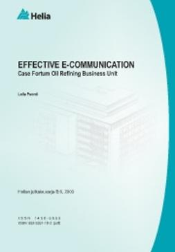 Puonti, Leila - Effective e-communication -Case Fortum Oil Refining Business Unit, ebook