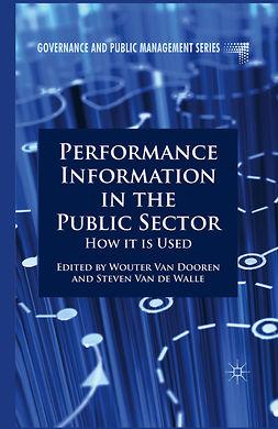 Dooren, Wouter - Performance Information in the Public Sector, e-kirja