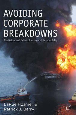 Barry, Patrick J. - Avoiding Corporate Breakdowns, ebook