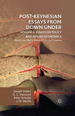 Halevi, Joseph - Post-Keynesian Essays from Down Under Volume II: Essays on Policy and Applied Economics, ebook
