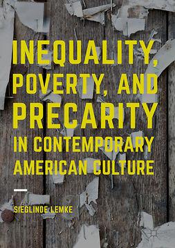 Lemke, Sieglinde - Inequality, Poverty and Precarity in Contemporary American Culture, e-bok