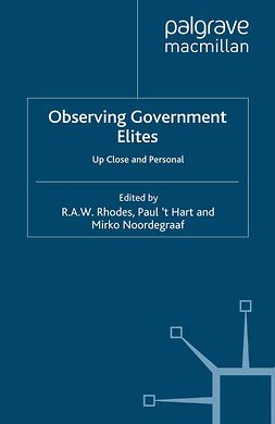 Hart, Paul - Observing Government Elites, ebook