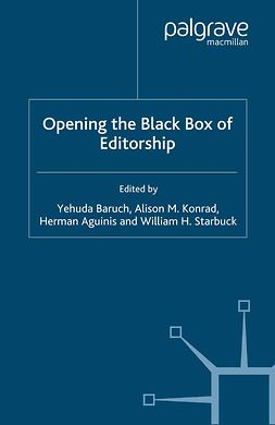 Aguinis, Herman - Opening the Black Box of Editorship, ebook