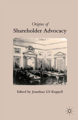 Koppell, Jonathan G S - Origins of Shareholder Advocacy, ebook