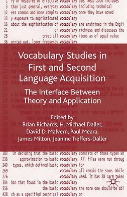 Daller, Michael H. - Vocabulary Studies in First and Second Language Acquisition, e-kirja
