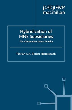 Becker-Ritterspach, Florian A. A. - Hybridization of MNE Subsidiaries, ebook