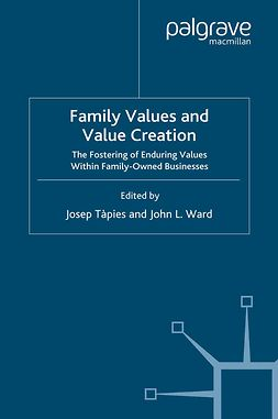 Tàpies, Josep - Family Values and Value Creation, e-bok