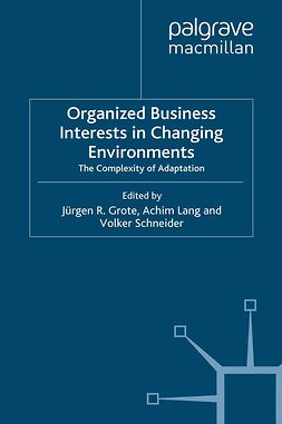 Grote, Jürgen R. - Organized Business Interests in Changing Environments, ebook