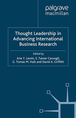 Cavusgil, S. Tamer - Thought Leadership in Advancing International Business Research, ebook