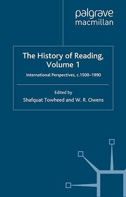 Owens, W. R. - The History of Reading, Volume 1, e-kirja