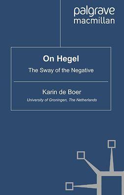 Boer, Karin - On Hegel, e-bok