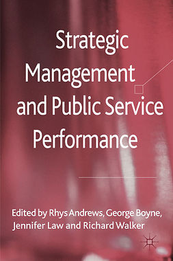 Andrews, Rhys - Strategic Management and Public Service Performance, e-kirja