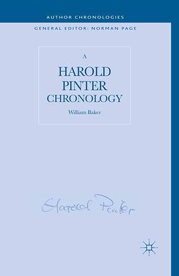 Baker, William - A Harold Pinter Chronology, ebook