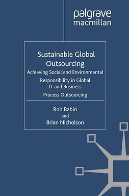 Babin, Ron - Sustainable Global Outsourcing, ebook