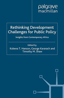 Hanson, Kobena T. - Rethinking Development Challenges for Public Policy, e-kirja