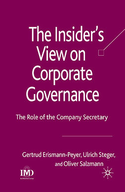 Erismann-Peyer, Gertrud - The Insider's View on Corporate Governance, ebook