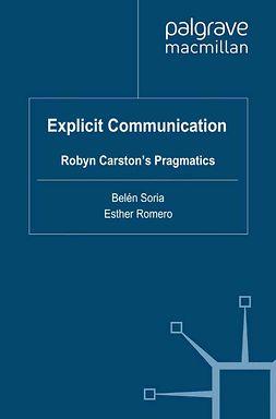 Romero, Esther - Explicit Communication, ebook