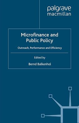 Balkenhol, Bernd - Microfinance and Public Policy, ebook