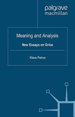 Petrus, Klaus - Meaning and Analysis, e-bok