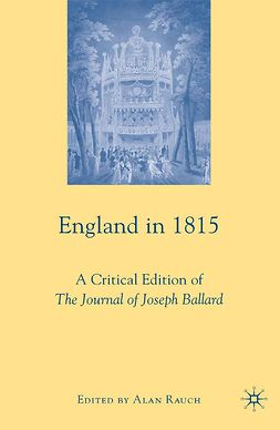 Rauch, Alan - England in 1815, ebook