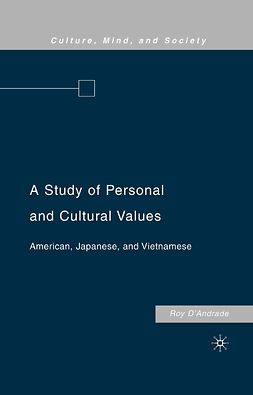 D'Andrade, Roy - A Study of Personal and Cultural Values, ebook