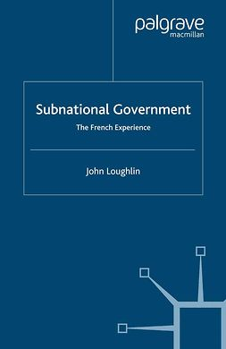 Loughlin, John - Subnational Government, ebook