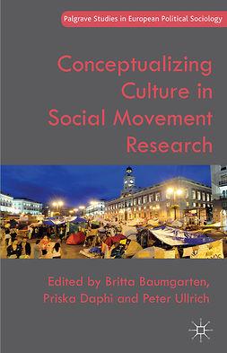Baumgarten, Britta - Conceptualizing Culture in Social Movement Research, ebook